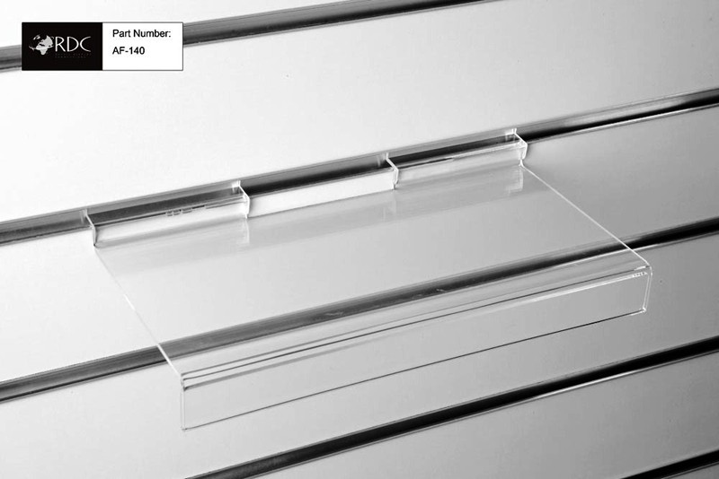 Acrylic Flat Shelf c/w Signholder 305*150mm