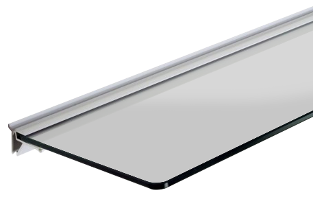 Floating Shelf Bracket - 1195mm - for use with 6mm toughened glass