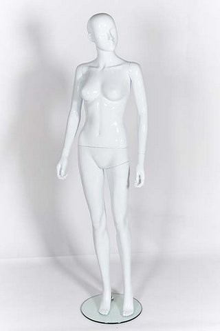 Female Mannequin - Abstract - Gloss White