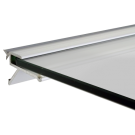 Floating Shelf Bracket - 595mm - for use with 6mm toughened glass